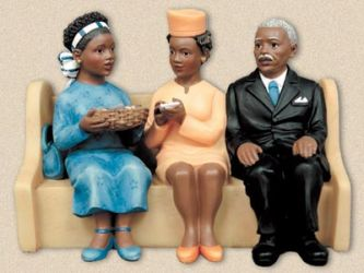 Church Pews African American Figurines