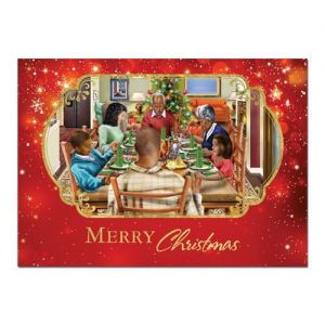 Merry Christmas Dinner Afrocentric Christmas Card