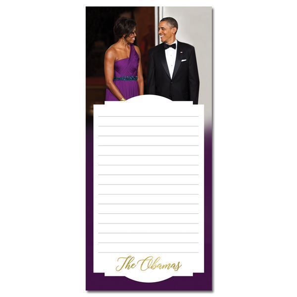 The Obamas Magnetic Purple Trim Notepad