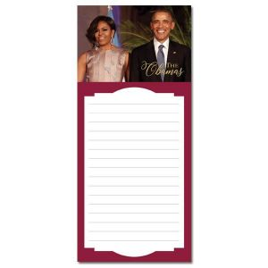 The Obamas Magnetic Red Trim Notepad