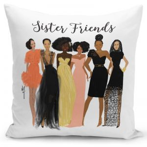 Sister Friends Pillow Cover