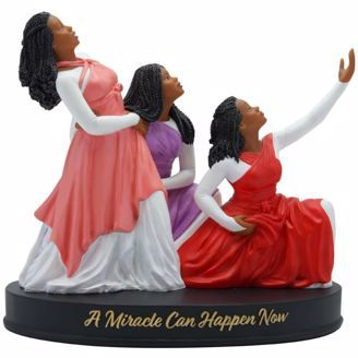 A Miracle Can Happen Now African American Figurine