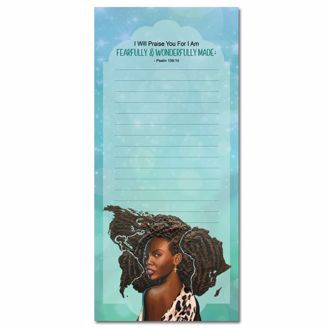 Fearfully Wonderfully Made  Magnetic Notepad