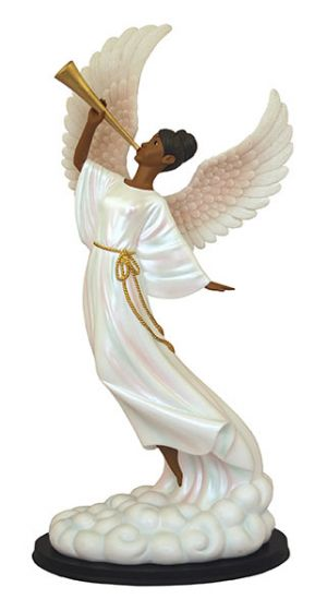 Heavenly Sound the Trumpet African American Figurine