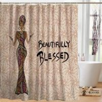 Beautifully Blessed Designer Shower Curtain
