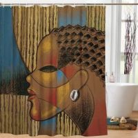 Composite Of A Woman African American Shower Curtain