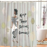 Keep Those Blessings Coming African American Shower Curtain