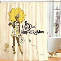 Bee Your Own InspHerAtion Designer Shower Curtain