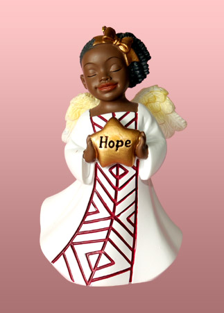 Hope Angel African American Christmas Ornament