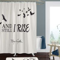 And Still I Rise Inspirational Shower Curtain