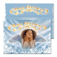Angel Merry Christmas Afrocentric Christmas Card