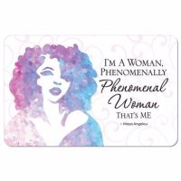 Maya Angelou Phenomenal Woman Memory Foam Bath Floor Mat