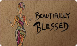 Beautifully Blessed African American Indoor Floor Mat