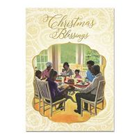 Christmas Blessings Family African American Christmas Card