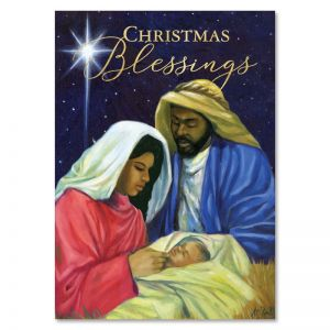 Christmas Blessing Nativity African American Christmas Card