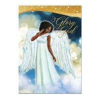 Glory to God African American Angel Christmas Card