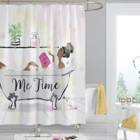 Me Time Afrocentric Shower Curtain