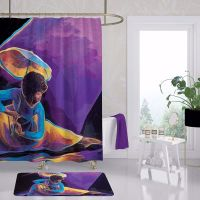 Praise Dancer With Umbrella Afrocentric Shower Curtain