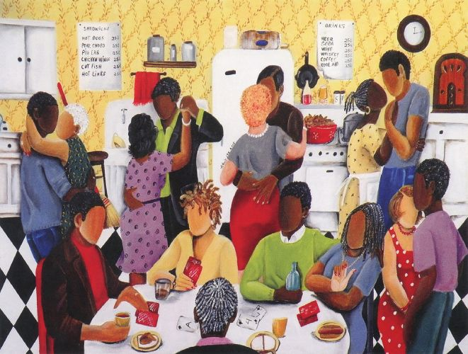 Quarter Party 500pc African American Jigsaw Puzzle