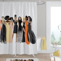 Sister Friends  Afrocentric Shower Curtain