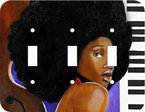 Soul Sister African American triple light switch plate cover